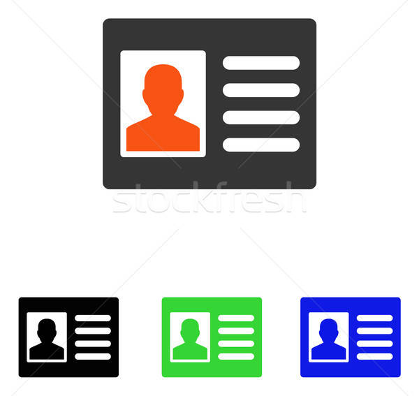 Pacjenta konto wektora ikona ilustracja stylu Zdjęcia stock © ahasoft
