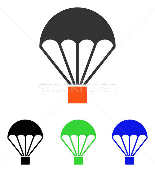 Parachute Flat Vector Icon Stock photo © ahasoft