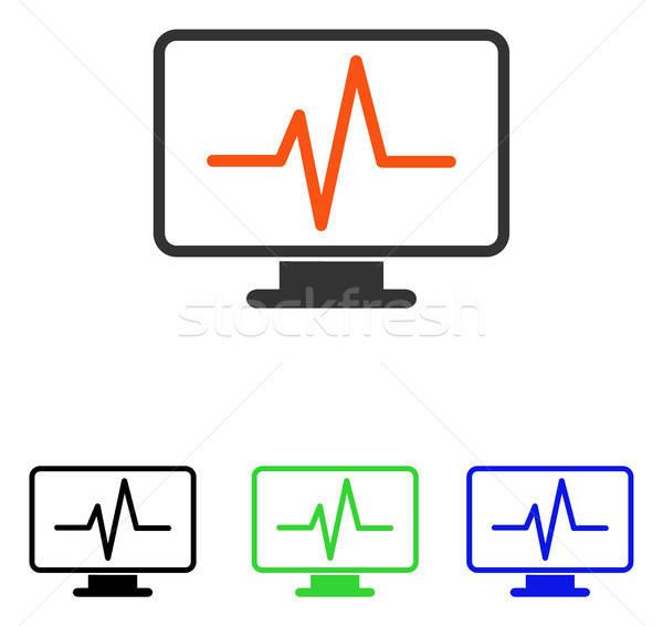 Pulse Monitoring Flat Vector Icon Stock photo © ahasoft