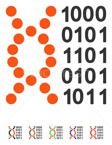 Dna code icon vector gekleurd kleur Stockfoto © ahasoft