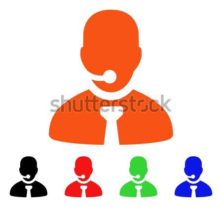Pessoas ícone vetor pictograma estilo gráfico Foto stock © ahasoft