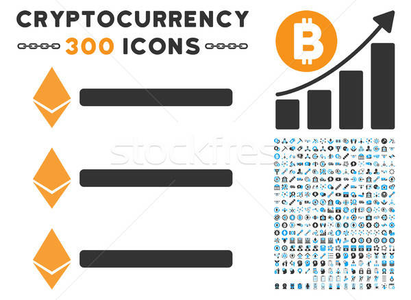 Ethereum List Flat Icon with Set Stock photo © ahasoft