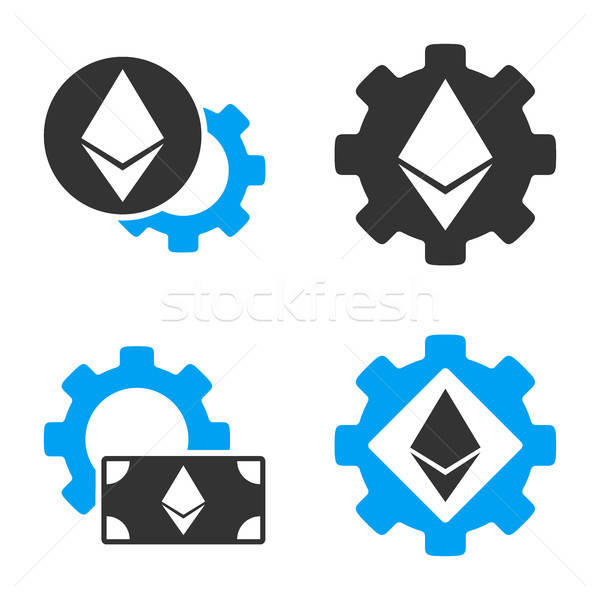 Ethereum Options Gear Vector Icon Set Stock photo © ahasoft