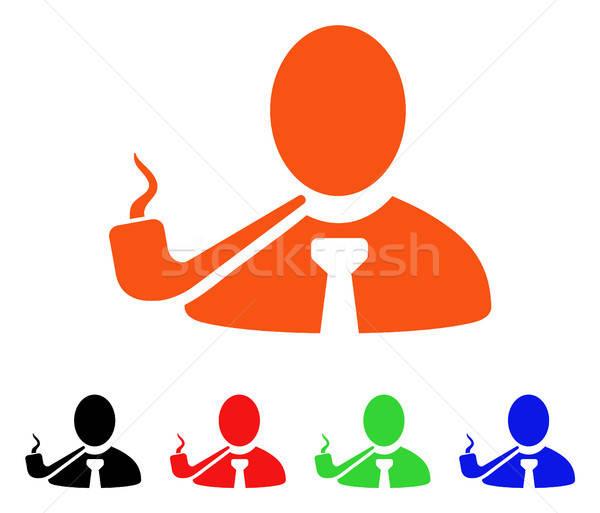 Fumer détective vecteur icône style Photo stock © ahasoft