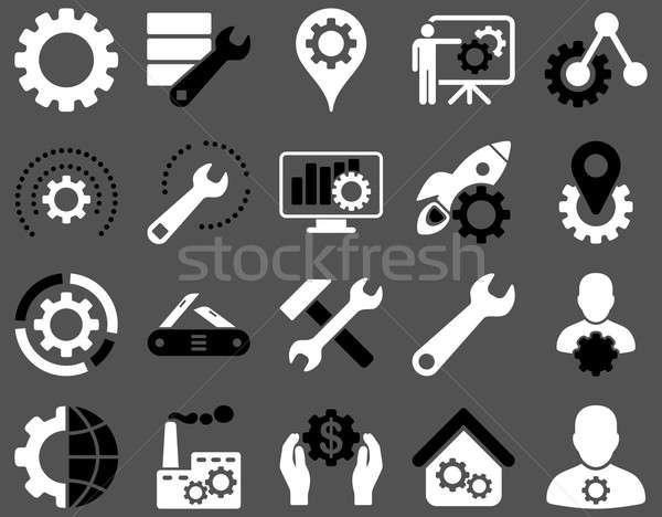 Foto stock: Herramientas · iconos · estilo