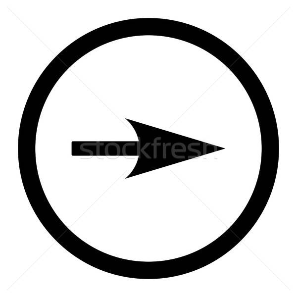 Arrow Axis X flat black color rounded vector icon Stock photo © ahasoft