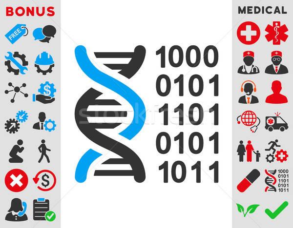 Genético código icono vector estilo símbolo Foto stock © ahasoft