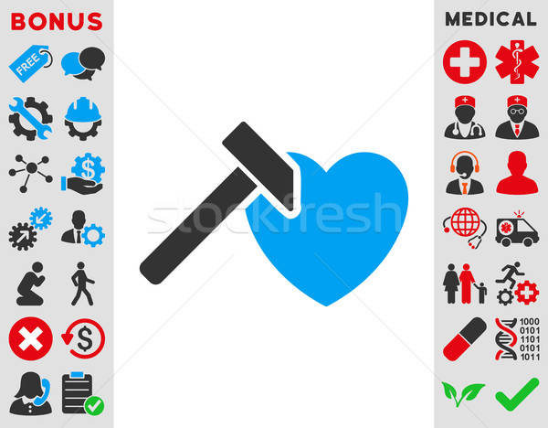 Heart Hammer Icon Stock photo © ahasoft
