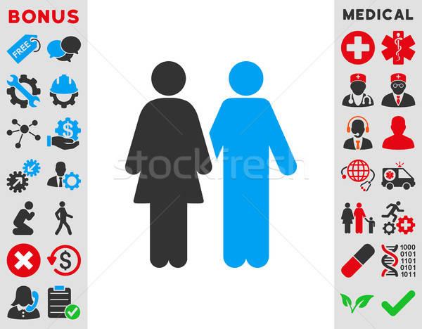 Human Couple Icon Stock photo © ahasoft
