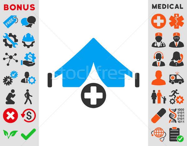 フィールド 病院 アイコン スタイル シンボル 青 ストックフォト © ahasoft