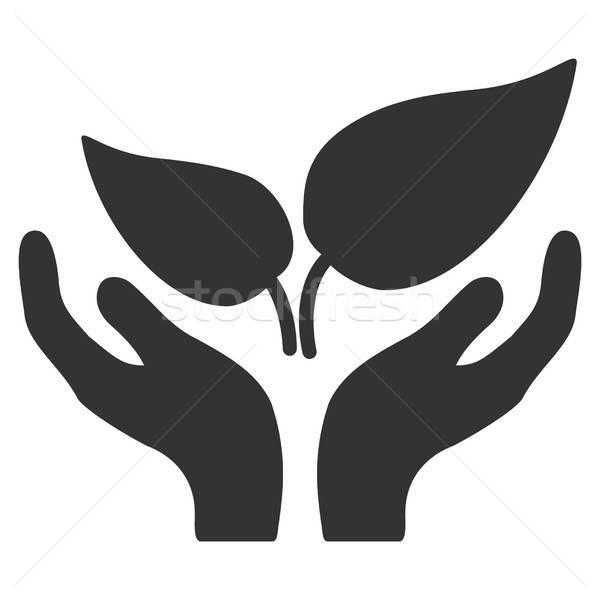 Эко запуска вектора икона серый стиль Сток-фото © ahasoft
