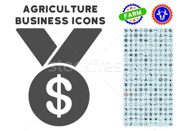 Bestseller icon landbouw ingesteld grijs commerciële Stockfoto © ahasoft