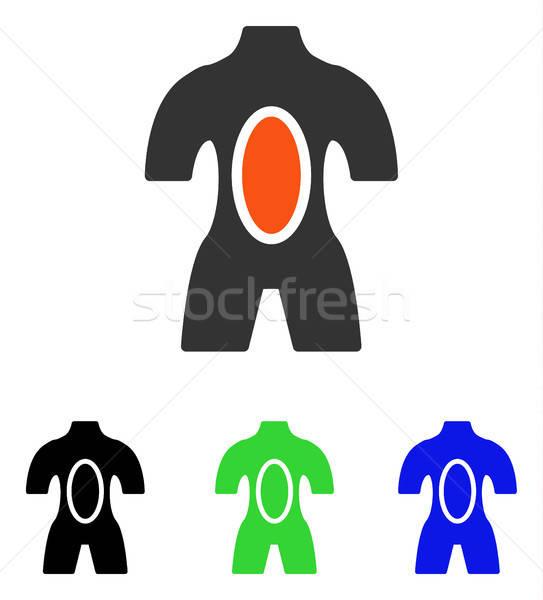 Anatómia vektor ikon illusztráció stílus ikonikus Stock fotó © ahasoft