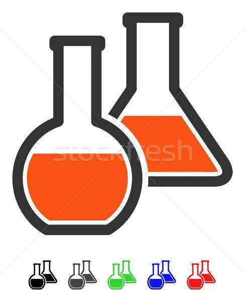 стекла икона вектора пиктограммы цвета Сток-фото © ahasoft