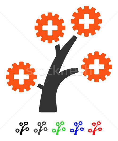 Medical Technology Tree Flat Icon Stock photo © ahasoft