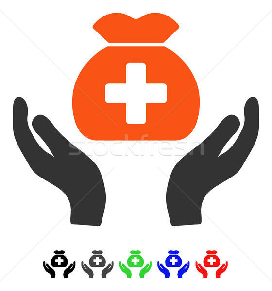 Medical Fund Care Hands Flat Icon Stock photo © ahasoft