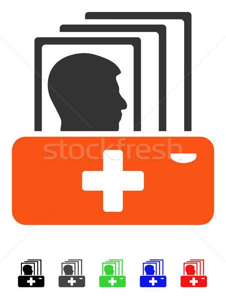 Patient Catalog Flat Icon Stock photo © ahasoft