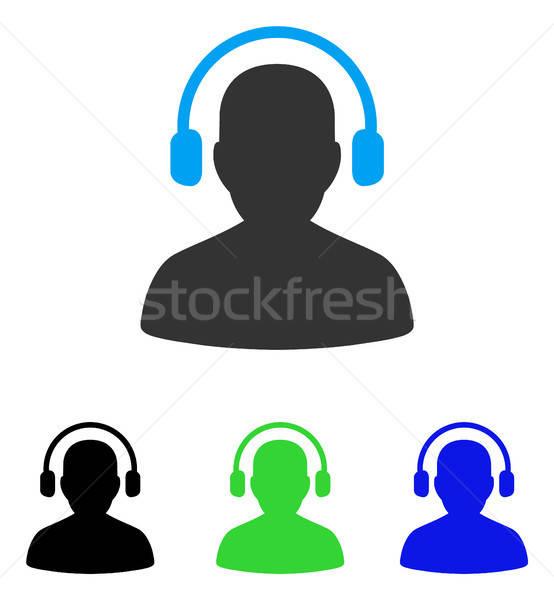 Słuchać operatora ikona wektora stylu graficzne Zdjęcia stock © ahasoft