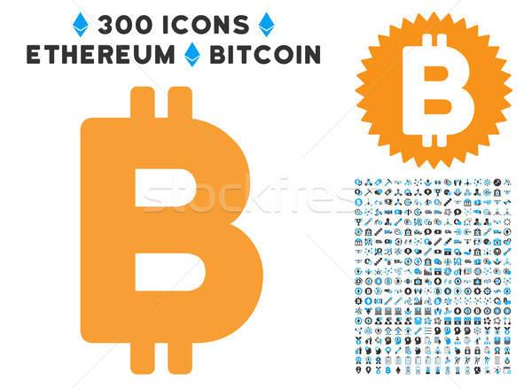 Bitcoin carta ícone inteligente contrato Foto stock © ahasoft