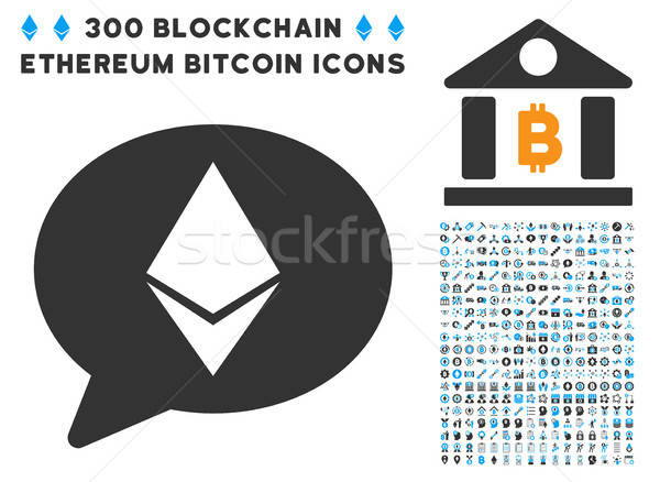 Ethereum Message Balloon Flat Icon with Stock photo © ahasoft