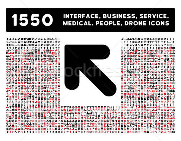Stock photo: Arrow Up Left Icon and More Interface, Business, Tools, People, Medical, Awards Flat Vector Icons