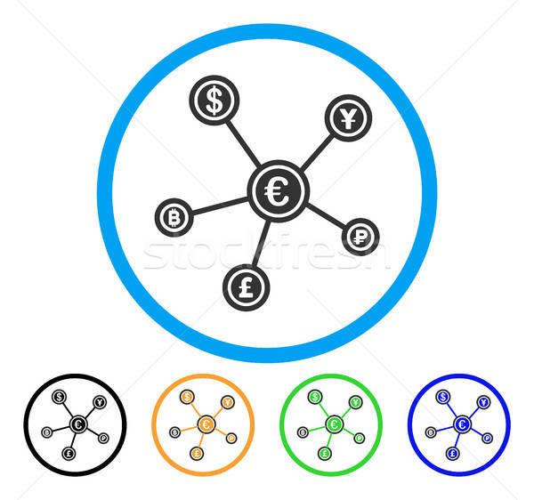 Euro Financial Network Rounded Icon Stock photo © ahasoft