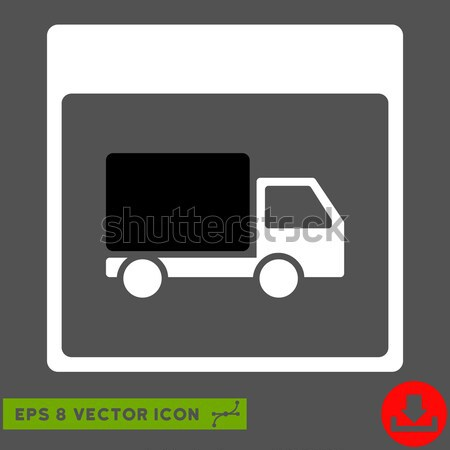 Truck Distribution Links Framed Icon Stock photo © ahasoft
