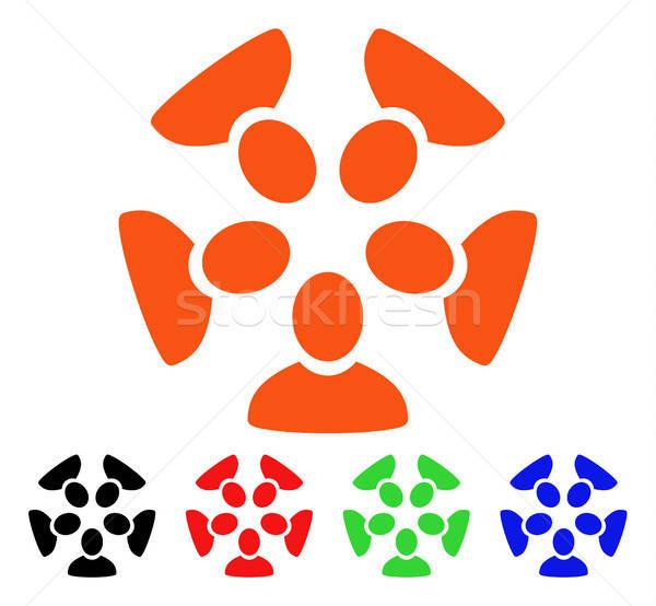 команда вектора икона стиль iconic символ Сток-фото © ahasoft