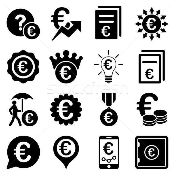 Euro bancaire business dienst tools iconen Stockfoto © ahasoft