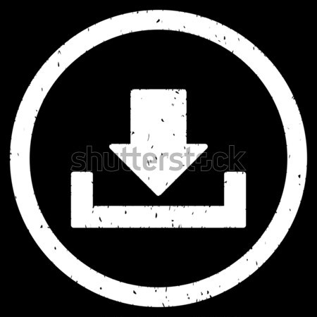 Download flat black color rounded vector icon Stock photo © ahasoft
