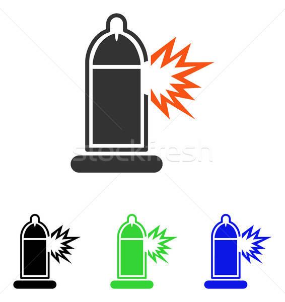 презерватива пениса перерыва вектора икона пиктограммы Сток-фото © ahasoft