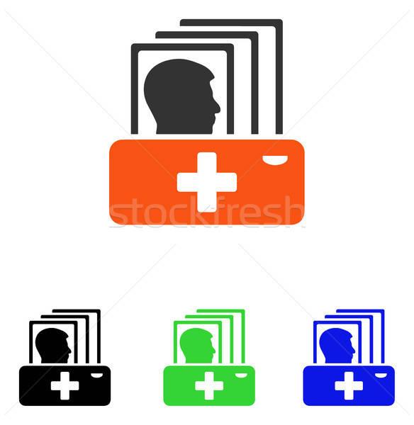 пациент каталог вектора икона пиктограммы иллюстрация Сток-фото © ahasoft