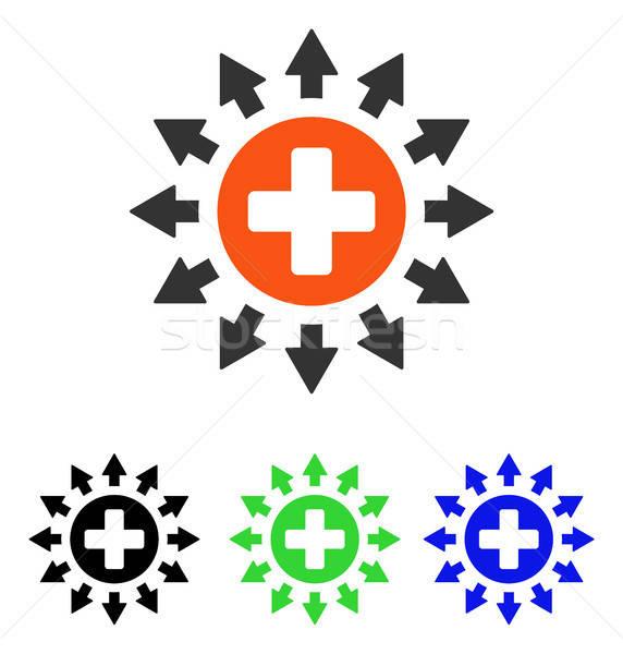Pharmacie distribution vecteur icône illustration style Photo stock © ahasoft