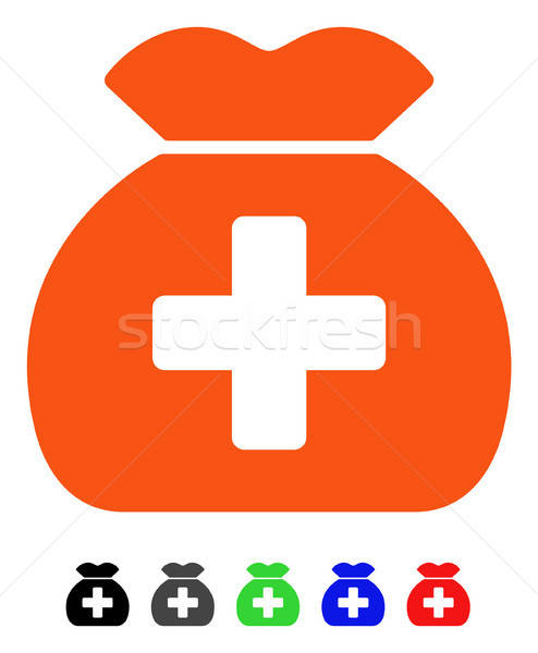 Medical Fund Sack Flat Icon Stock photo © ahasoft