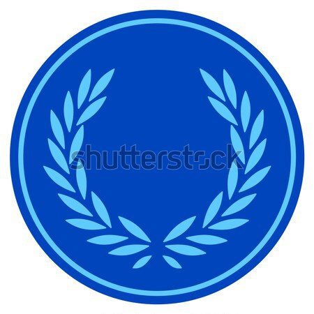 Ethereum Laurel Coin Flat Icon Stock photo © ahasoft