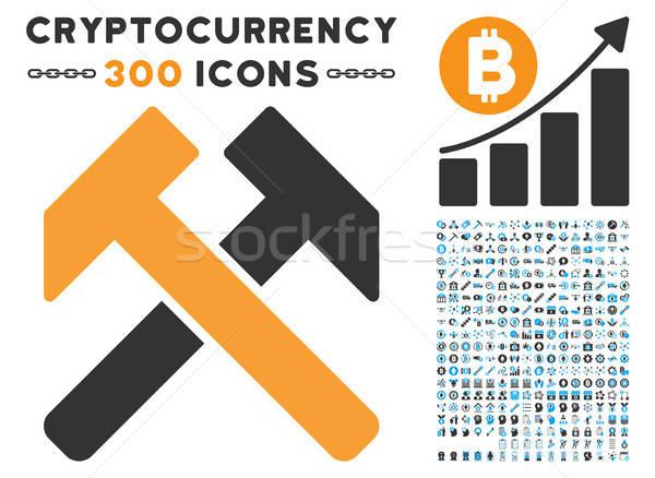Ikon clip art bitcoin okos szerződés képek Stock fotó © ahasoft