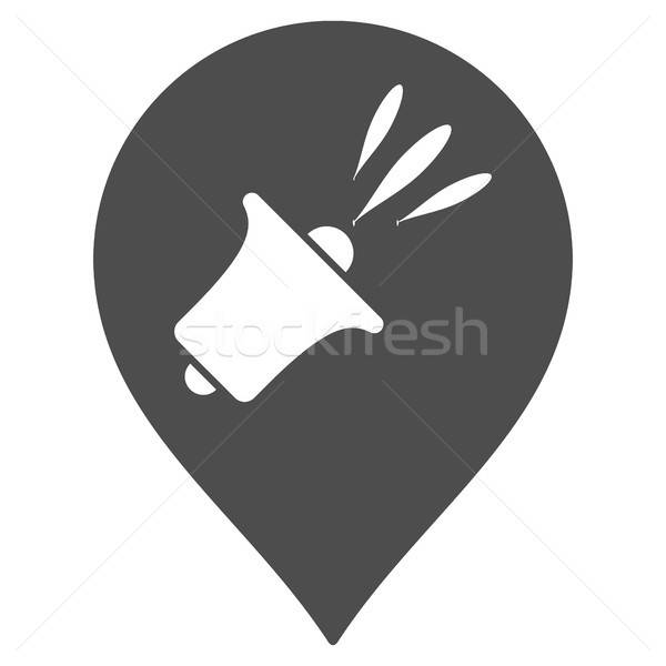 Megafon harita işaretleyici ikon vektör stil Stok fotoğraf © ahasoft