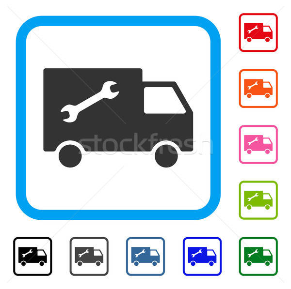 Repair Van Framed Icon Stock photo © ahasoft