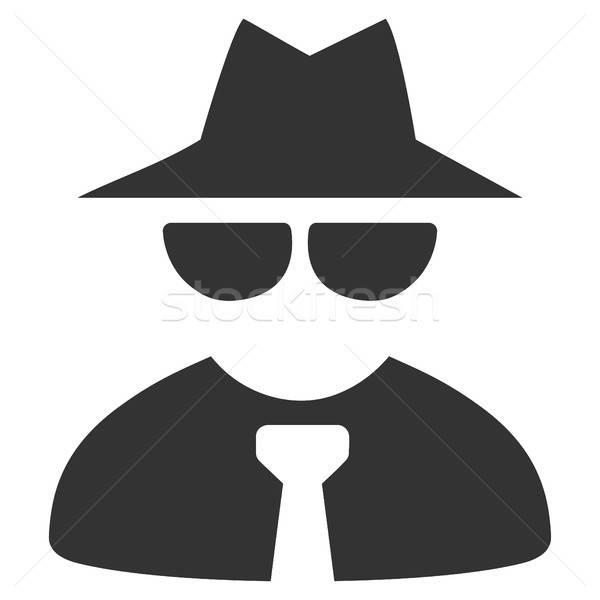 Maffia baas icon vector pictogram stijl Stockfoto © ahasoft