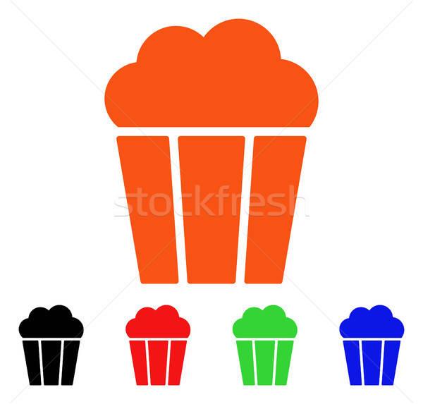 Popcorn wiadro wektora ikona stylu ikonowy Zdjęcia stock © ahasoft