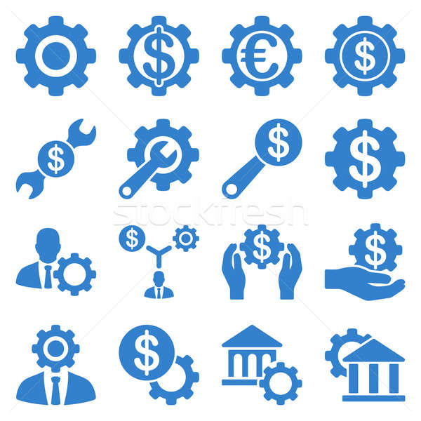 Stock photo: Financial tools and options icon set