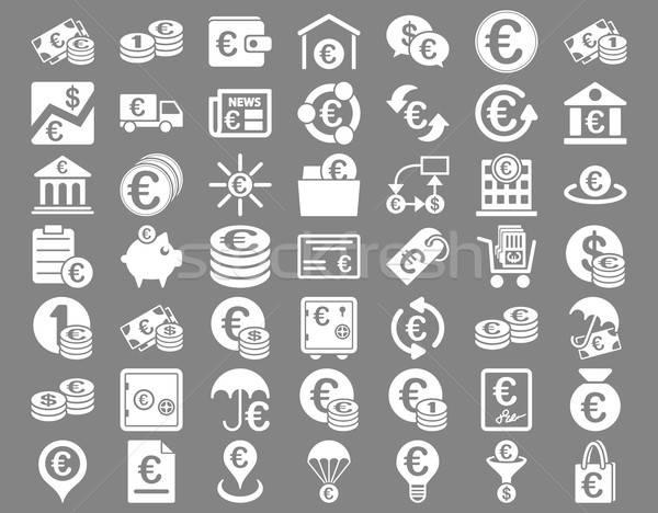Euro Banking Icons Stock photo © ahasoft