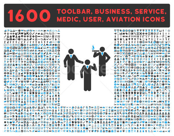 Discuss Icon with Large Pictogram Collection Stock photo © ahasoft