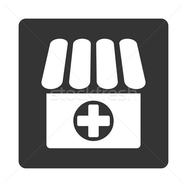 Apteka ikona stylu biały szary kolory Zdjęcia stock © ahasoft