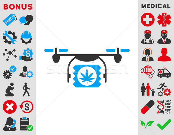 Drugs Drone Shipment Icon Stock photo © ahasoft