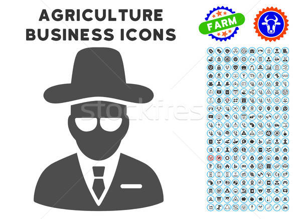 Agent Icon with Agriculture Set Stock photo © ahasoft
