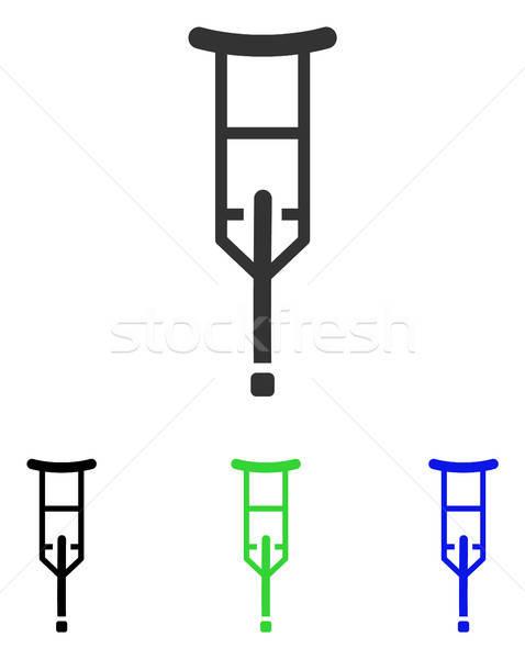 Crutch Flat Vector Icon Stock photo © ahasoft
