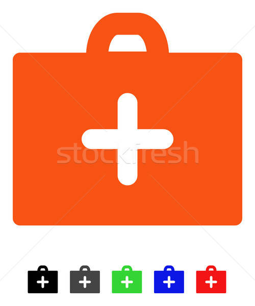 Eerste hulp icon vector pictogram gekleurd kleur Stockfoto © ahasoft
