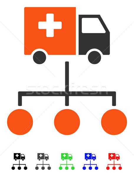 Medical Delivery Links Flat Icon Stock photo © ahasoft
