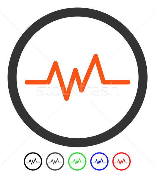 Pulse Monitoring Flat Icon Stock photo © ahasoft